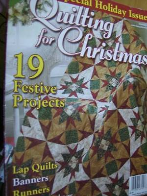 Quilting For Christmas 2009 Magazine -19 Projects Snowflakes Snowman Poinsettias