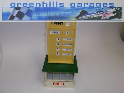 Greenhills Scalextric Event Board and Hut with inserts A201 Used ACC2731 ##