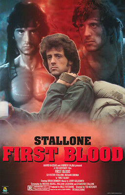 Poster:movie Repro: Rambo - First Blood - Sylvester Stallone    #784   Rp65 S