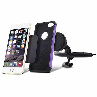 360 Magnetic Car CD Dash Slot Mount Holder Cradle for iPhone Cell Phone Samsung