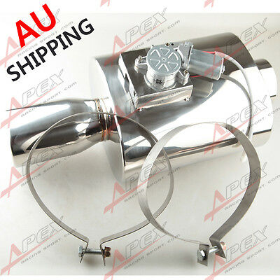 """Sport Racing 3.5"""" Outlet Tip Exhaust Muffler 3.5"""" Inlet Stainless Steel New AU"""