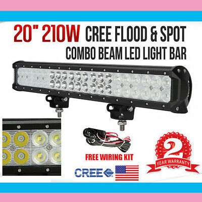 210W 20inch CREE LED Working Light Bar Flood/Spot Combo Beam
