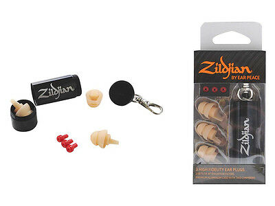 ZILDJIAN - 3 X High Fidelity Ear Plugs & Case *NEW* Light Ear Peace