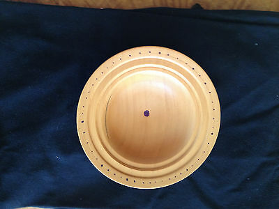 Hand Crafted, Tasmanian Huon Pine Timber Bowl with Decorated Edge and Centre
