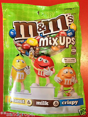 AUSTRALIAN M&M's MIX UPS PEANUT MILK CRISPY 1 x 145g PACKET M&Ms