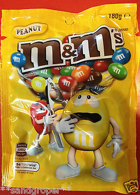 AUSTRALIAN PEANUT M&M's 1 x 180g PACKET M&Ms