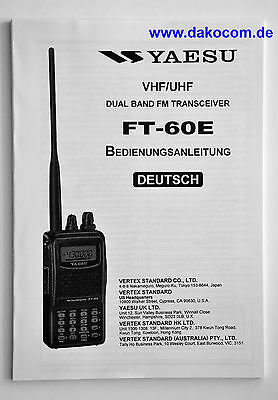 Yaesu FT-60E Original Bedienungsanleitung in Deutsch