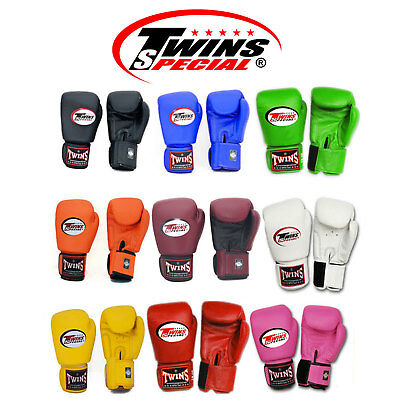 Twins Muay Thai Boxing Gloves BGVL-3 8 10 12 14 16 oz