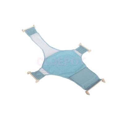 Infant Baby Bath Seat Support Mesh Adjustable Bath Tub Net Shower Mat Blue