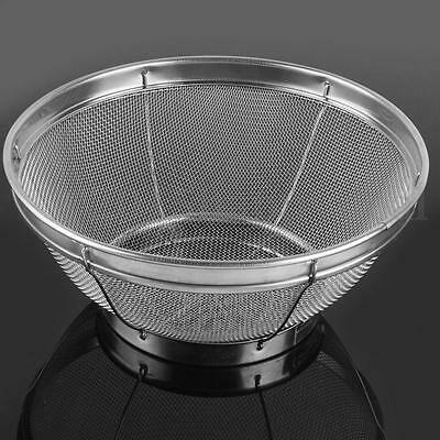 Large Kitchen Stainless Steel Mesh Strainer Sifter Sieve Food Vegetable Colander