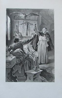 1906 WOLDEMAR FRIEDRICH Illustration Segen antiker Druck Wilde Jäger