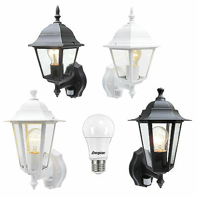 External Security PIR Sensor Wall Coach Lantern or LED Energy Saving Light Bulb