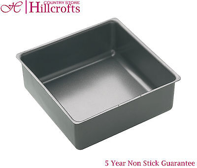 Masterclass Square Cake Baking Pan Tin Heavy Duty Non Stick
