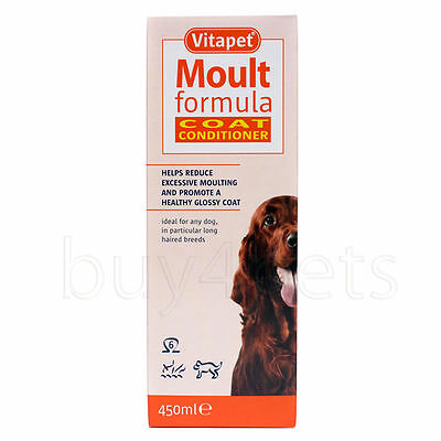 Vitapet Moult Formula Cat & Dog Coat Conditioner Reduce Moulting 150ml and 400ml