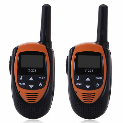2 Pcs Walkie Talkie UHF 400-470MHz LCD 3KM Dual Band Bambino Ricetrasmittente