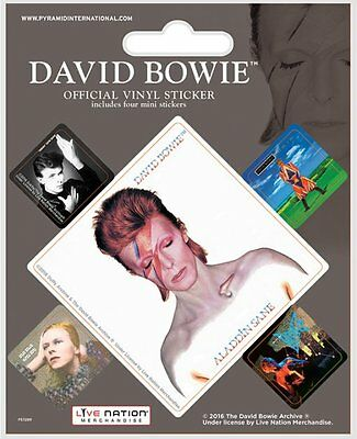 David Bowie (Album Covers) - Vinyl Stickers 5 Pack By Pyramid Ps7289