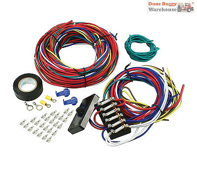 Dune Buggy Woods Buggy Universal Wire Loom Kit & Fuse Box 9466