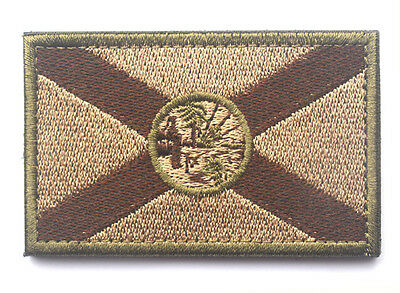 Florida STATE FLAG USA ARMY MORALE TACTICAL MILITARY BADGE  PATCH