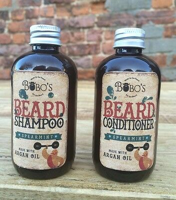 Bobos Beard Company Beard Shampoo And Conditioner Beard Wash Twin Pack Free Oil