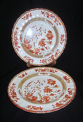 Vintage Copeland Spode India Tree Rust Luncheon Plates (2) - Old Mark
