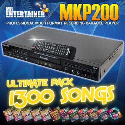 Mr Entertainer PartyBox CDG/DVD/MP3G Karaoke Machine With Screen, Songs & Mics