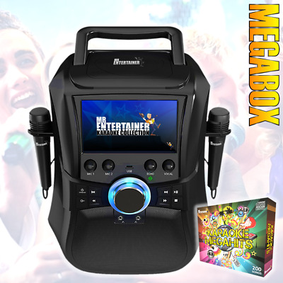 Mr Entertainer PartyBox Karaoke Machine & Portable DVD Player. 2nd Gen. CDG MP3G