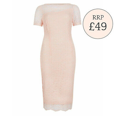 Ex Marks and Spencer Floral Lace Bodycon Dress RRP £49  *Sizes 10 - 16*