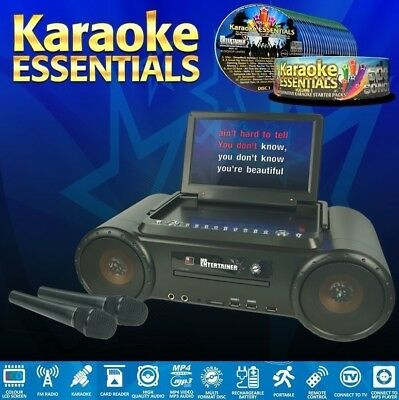 Mr Entertainer PartyBox Portable CDG/DVD/MP3G Karaoke Machine. 500 Song Package