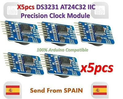 5pcs DS3231 AT24C32 IIC Module Precision Clock Module DS3231SN for Arduino