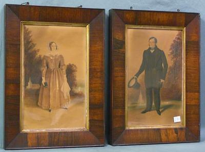 Stunning Pair of Antique Watercolor Paintings Signed, Identified, & Dated WOW!