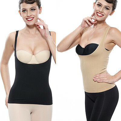 Women Shapewear Body Shaper Underbust Slimming Tummy Cami Tank Top Waist Control