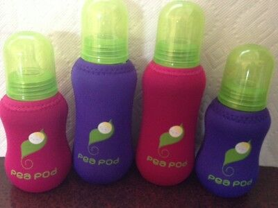 Neoprene Protective & Insulating Glass Baby Bottle Covers/Sleeves  - PEA PODS