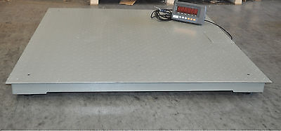 "10,000 Lbs Capacity 1 lbs Accuracy 4'x4' Floor Pallet Scale Industrial 48"" X 48"""