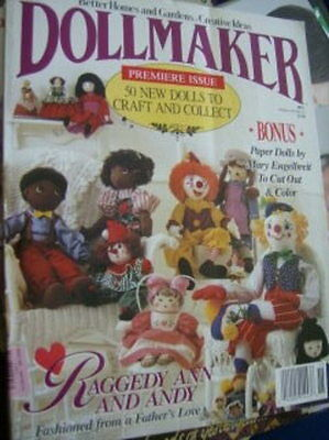 Dollmaker Magazine 1991 Premiere Issue, Engelbreit Paper Dolls To Cut Out, Ragge