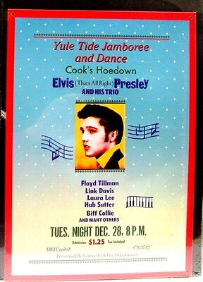 Elvis Presley 1954 Concert That's All Right Mama Lithographed Metal Poster NEW