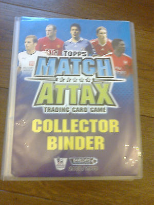 Topps Match Attax 2008 / 2009 Collector Binder With Over 100 Cards