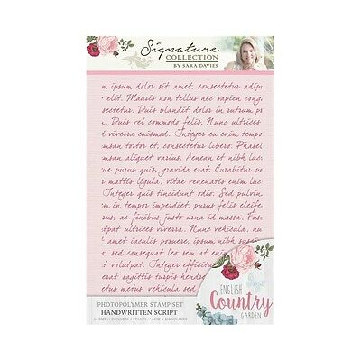 Crafters Companion Hand Written Script English Country Garden A6 Stamp S-ENG-ST-