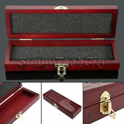 Vintage Retro Straight Razor Knife Box Wooden Gift Wood High Grade Case Hot