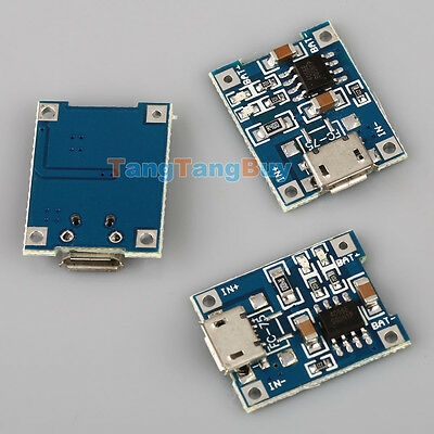 10pcs TP4056 5V Micro USB 1A Lithium Battery Charging Board Charger Module