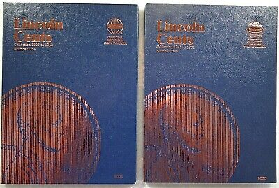 Whitman Lincoln Cent #1 & 2 1909-1974 Coin Folders, Albums Books