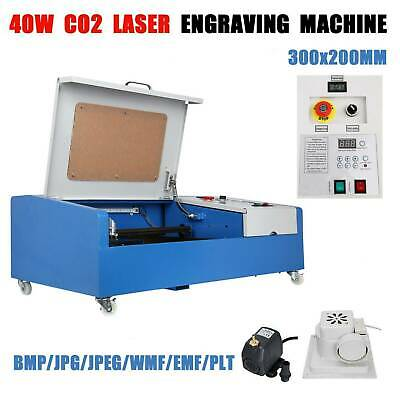 40W USB Port CO2 Laser Engraving Cutting Machine Engraver Cutter W/ Wheels