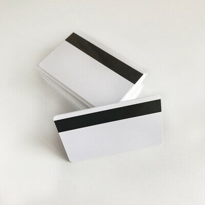 10pcs Blank Hico 3 Magnetic Stripe Plastic Credit Card 30Mil Inkjet Printable