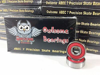 10 Packs Owlsome ABEC 7 Precision Skateboard Longboard Bearings