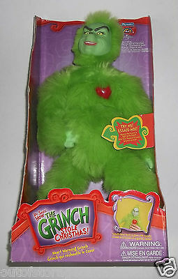Dr. Seuss The Grinch Stole Christmas Heart Warming Grinch Plush Toy Playmates