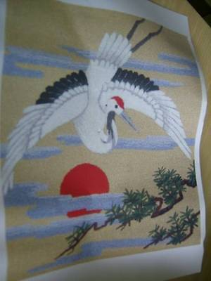 Flying Crane #353 Tokyo Bunka Needle Punch Embroidery Picture Kit