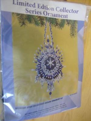 Midnight Star Sequin/Bead Collector Ornament Kit Makes One -4.5x9 Inches #42 In