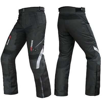 DRIRIDER NORDIC MOTORCYCLE PANTS NEW with LEATHER KNEES Dry Rider Road Dri rider