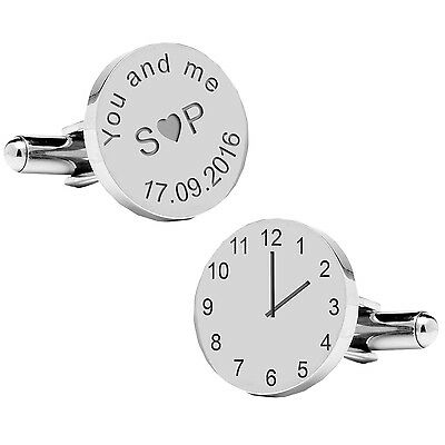 Personalised You and me Initials Groom Cufflinks, Wedding Party Gift, Groom Gift