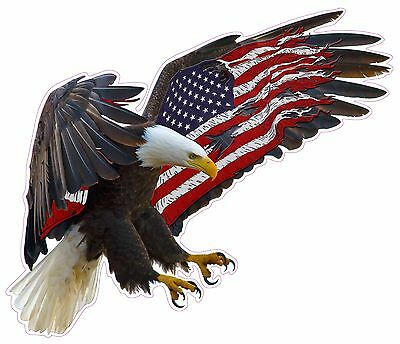 "American Eagle American Large Flag Decal 12"" Free Shipping"