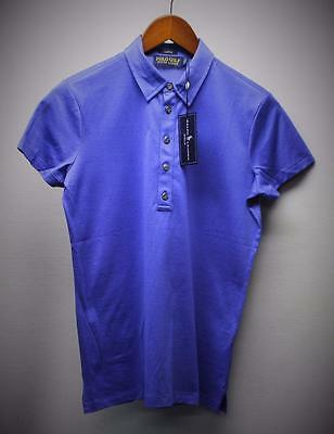New Ladies Small Ralph Lauren POLO GOLF short sleeve golf top Periwinkle Sample